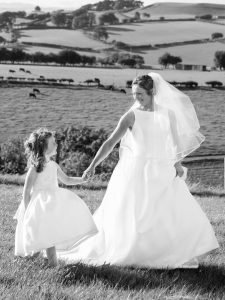 Bride & Flower Girl, Country Wedding, Ross-On-Wye,Tania Miller Photography