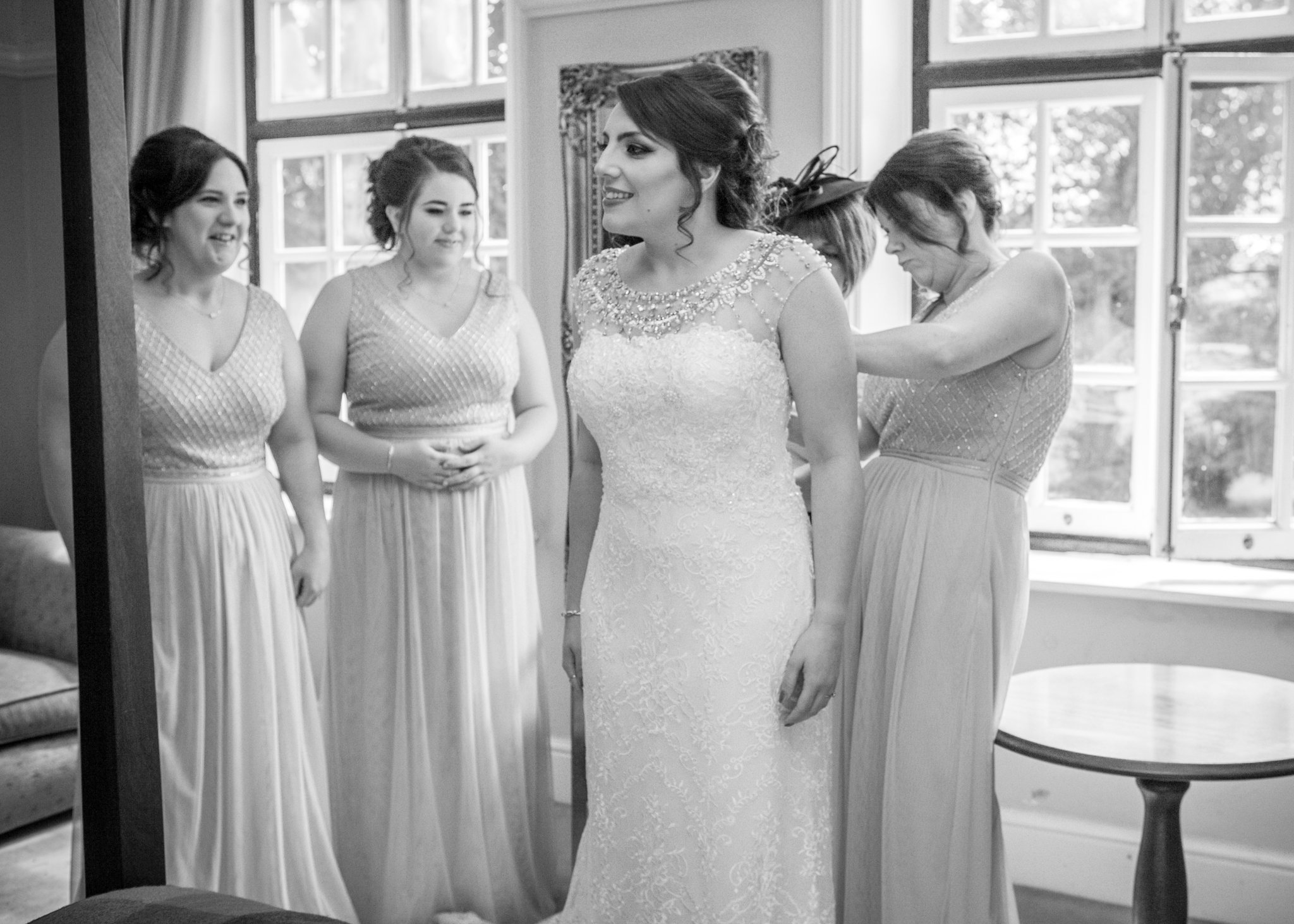 Bridal Preparations, Llansantffraed Court Wedding, Tania Miller Photography