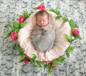 Newborn Session with Baby Evie, Tania Miller Photography, Pontypool Newborn Photographer