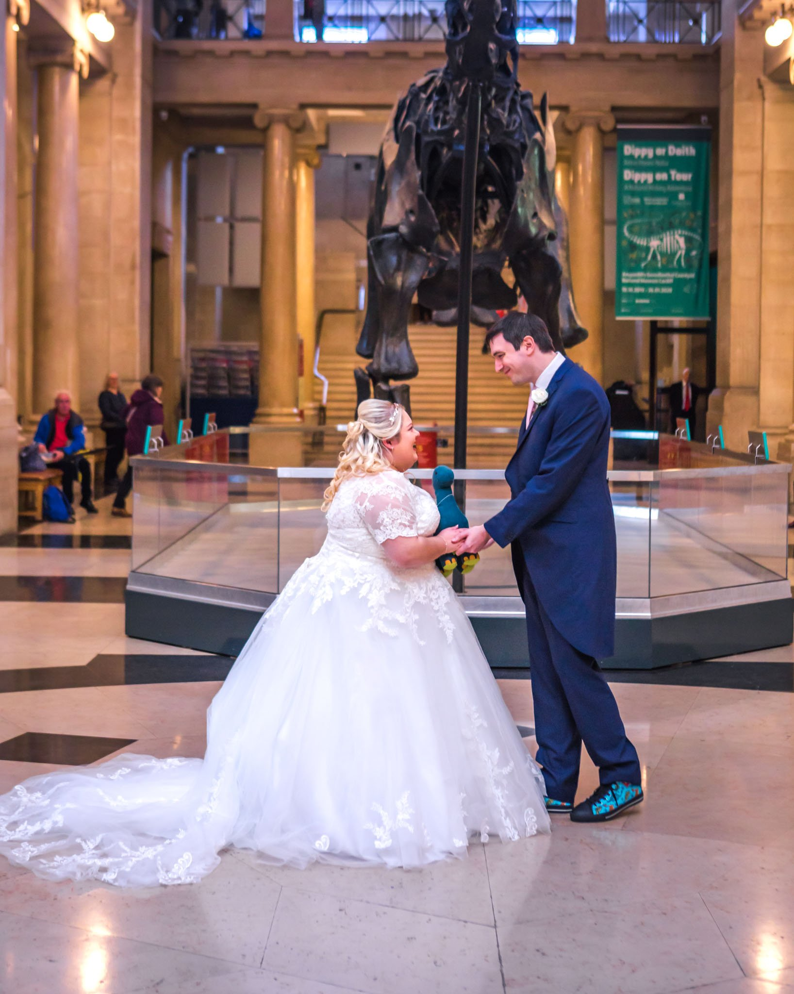 National Museum Cardiff, Dippy the Dinosaur, Tania Miller Photography, Cardiff Wedding Photographer