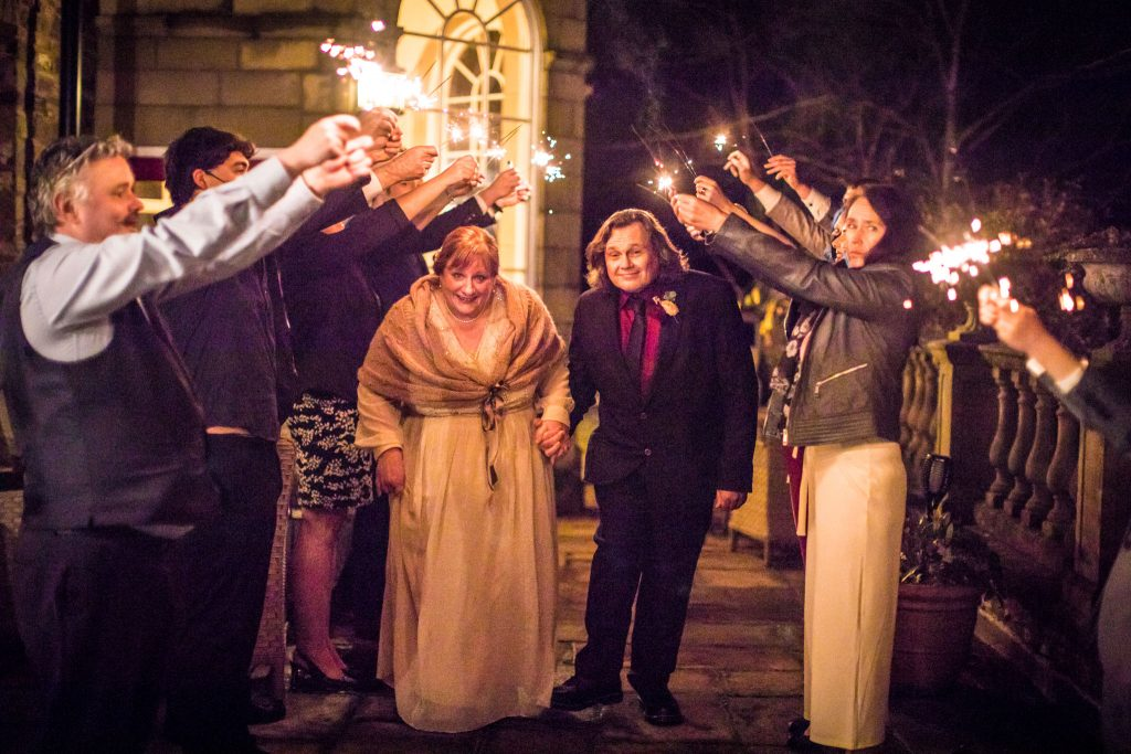 Sparkler Shot, November Wedding, Peterstone Court Brecon, Tania Miller Photography, Brecon Wedding Photographer